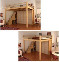 Lit YEN, mezzanine. Lit mezzanine soulevé. Si votre plafond est haut à partir de 3 metres  avec cette solution vous gagné presque 4m2 de sur...