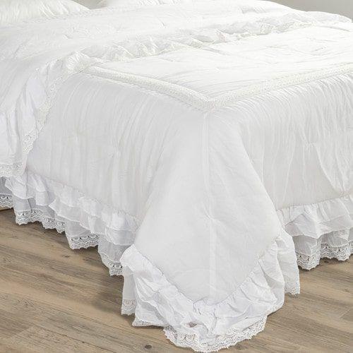Trapunta bianca in cotone 240 x 260 cm CLÉMENCE