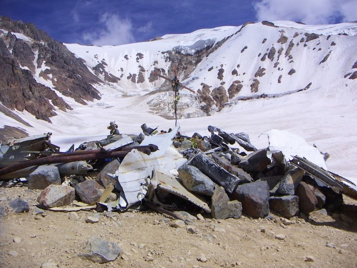 The memorial at the crash site