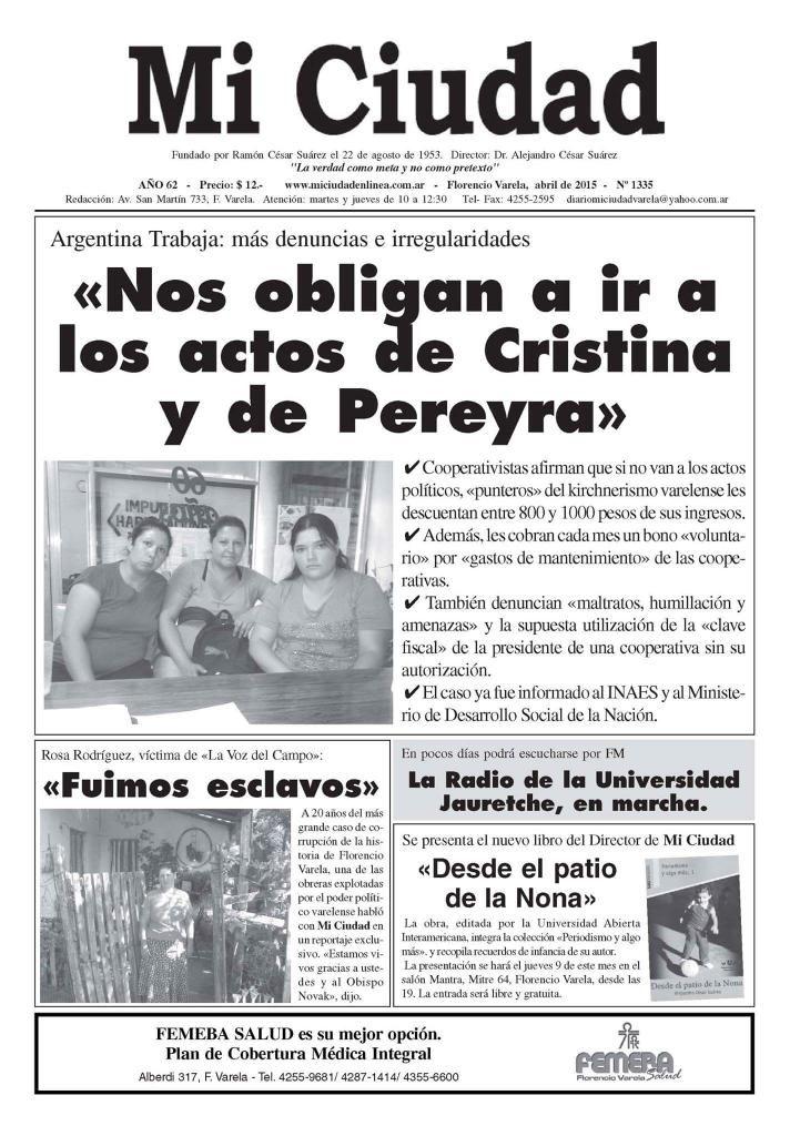 Florencio Varela indignado. #RT para difundir.