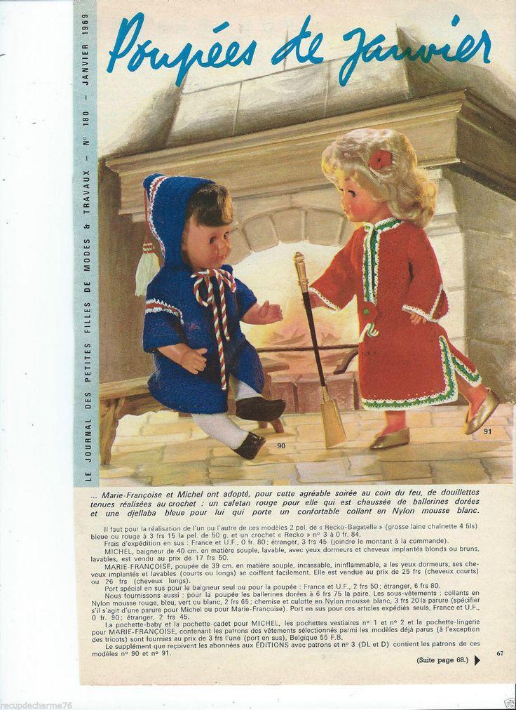 1969 Page Poupée marie francoise Michel Modes et Travaux n180 Mini Patron au dos | Loisirs créatifs, Crochet, tricot, Patrons, modèles | eBay!