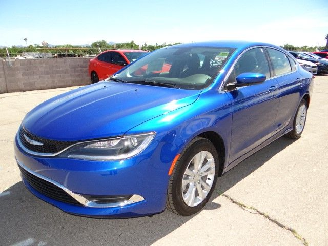 2015 Chrysler 200 in Vivid Blue Pearl Coat at Chapman Las Vegas.