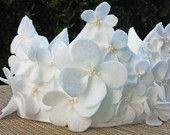 Felt Flower Birthday Crown in White