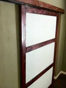 Make your own sliding closet doors GREAT instructions and actually easy looking!