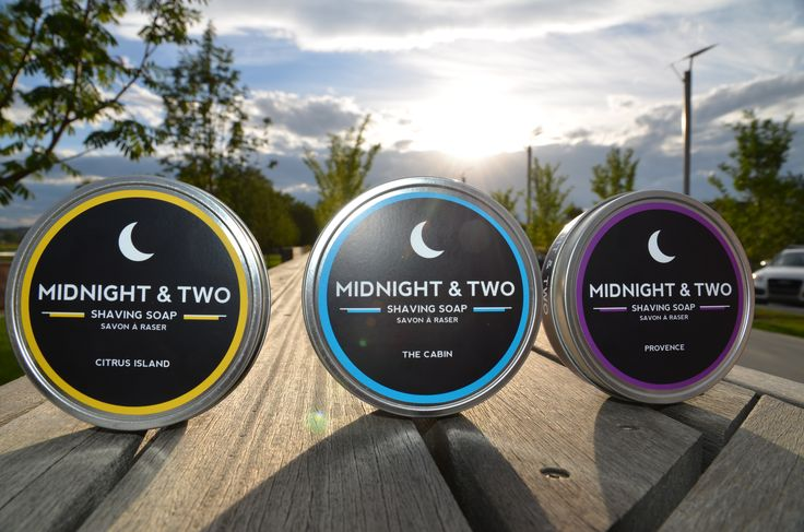 Shave Soap Tins www.midnightandtwo.com #shavesoap #malegrooming #midnightandtwo