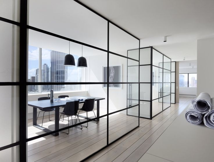 Nice glass wall system open space office design j for Open space interior design