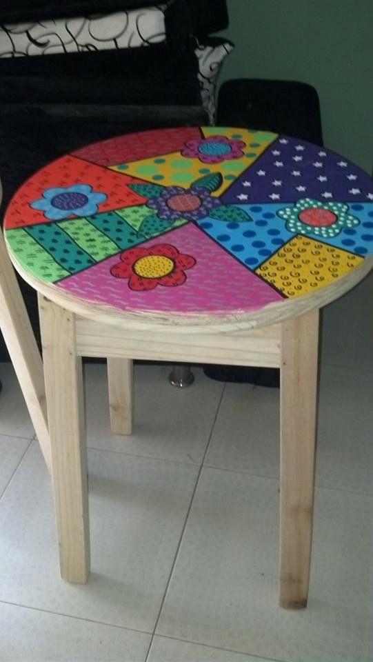Las 25 mejores ideas sobre mesas pintadas en pinterest - Pinturas de madera ...