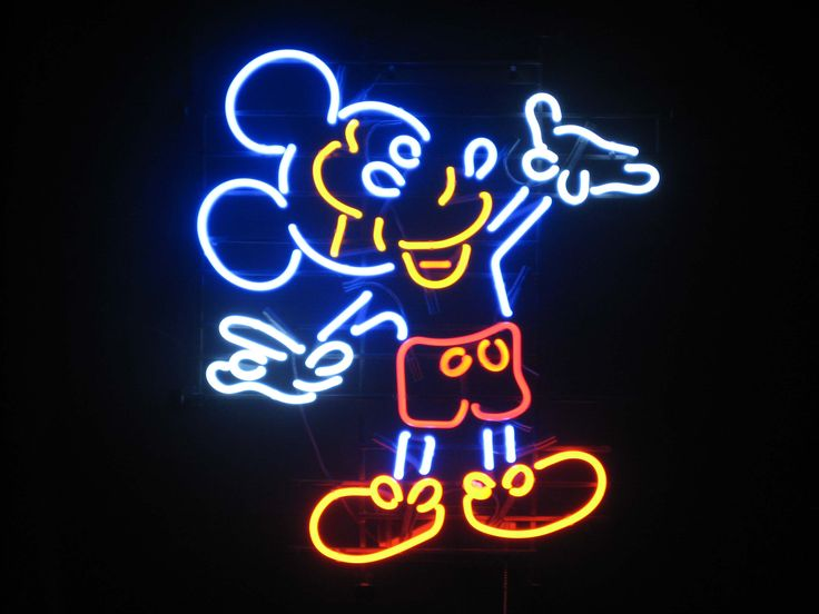 neon sign mouse signs cool sdl mickey china disney background lighting phone signage cartoon architecture patterns quotes glow mice