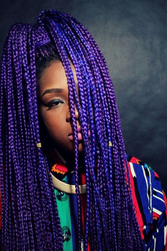 Pleasant 17 Best Ideas About Purple Box Braids On Pinterest Purple Braids Hairstyle Inspiration Daily Dogsangcom