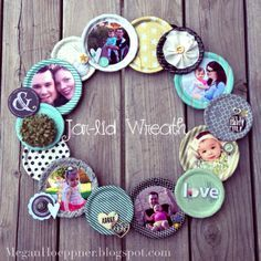DIY Jar Wreath Photo Collage