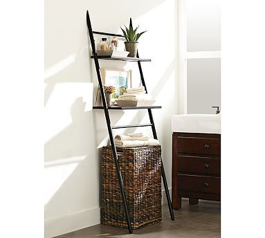 Rustic Over-the-Toilet Etagere #potterybarn
