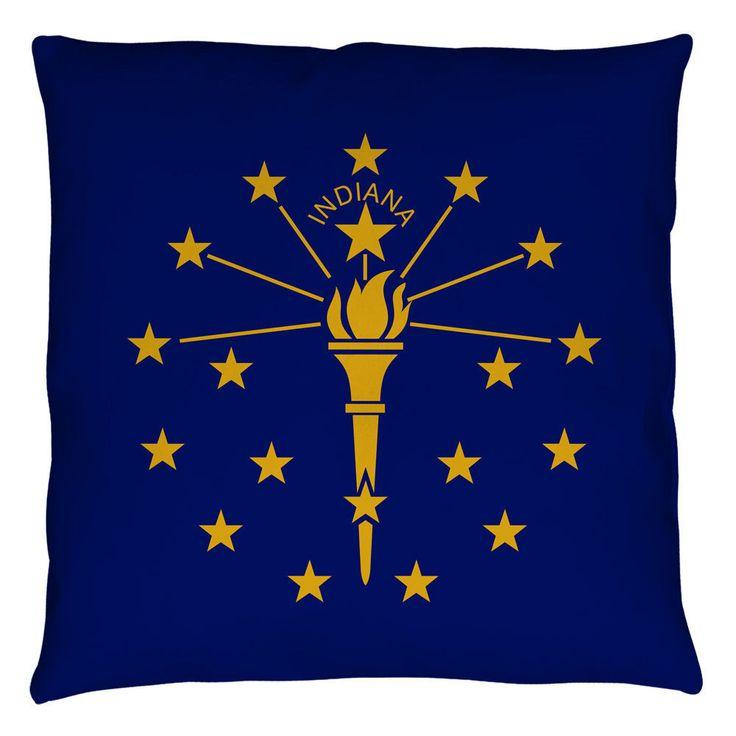Indiana Flag Throw Pillow