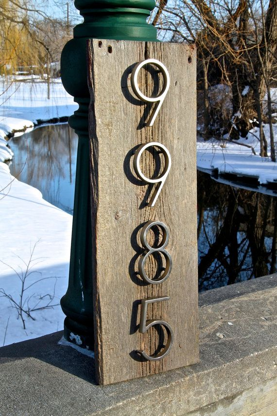Barn wood sign, House Number Sign, Rustic House Number, Wood address plaque, Custom, house numbers,Sign