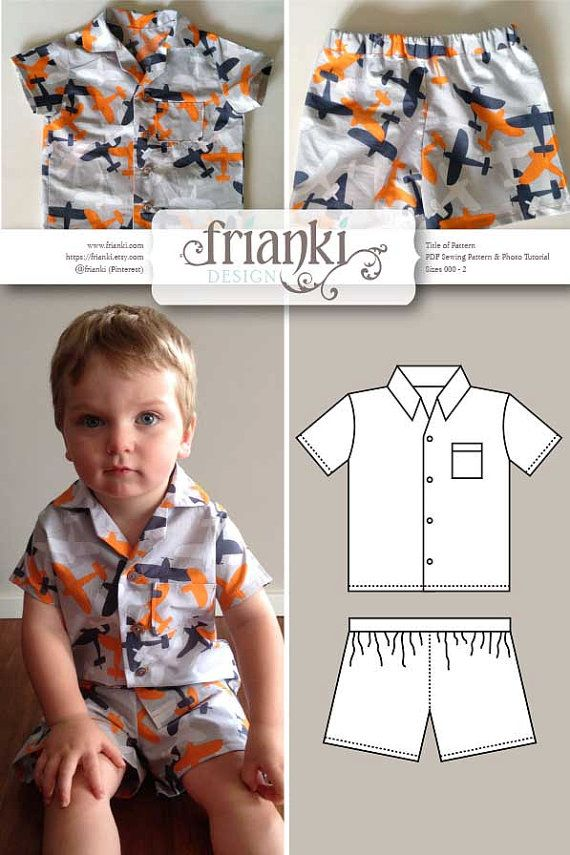 This listing is for a sewing pattern and photo tutorial to make the pictured Childrens pyjamas. It is in size 000 to 2 (see guide below). The tutorial is