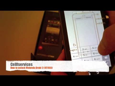 How to unlock Motorola Droid 3 XT860 with an unlock code