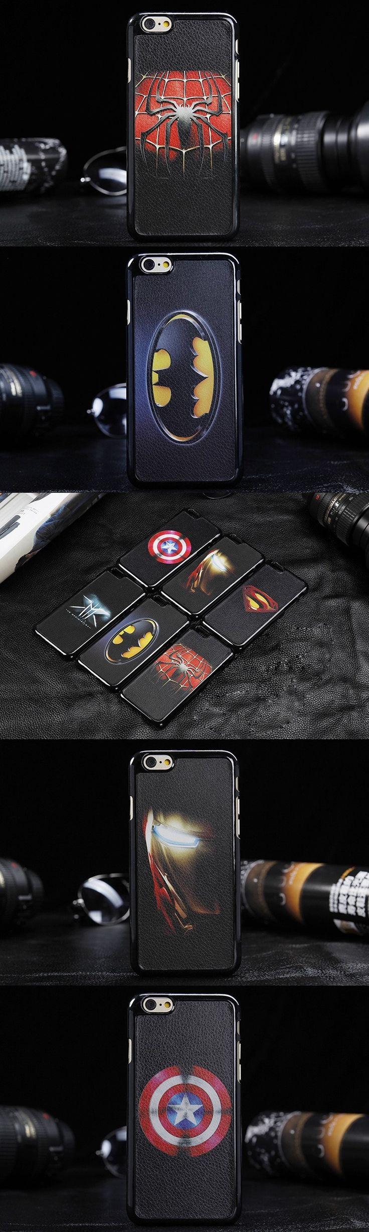 Luxury Batman Superman Case For Coque iPhone 5 Case Iron Man Plastic For Capinha Para iPhone 5s Cases Carcasa For Funda iphone 5