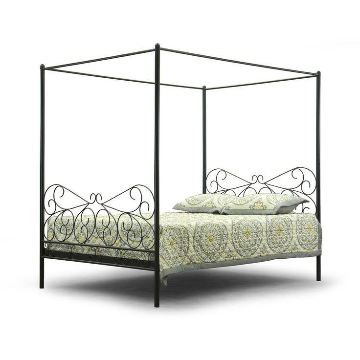 Queen Canopy Bed Frame Antique Vintage Metal For Curtains Mosquieto Nets Tents