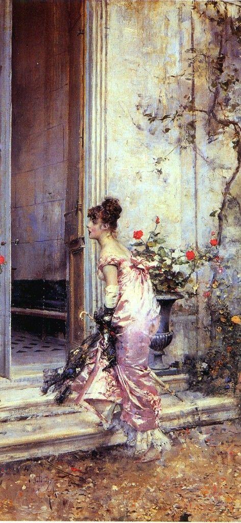 Imágenes Victorianas: Llegando de visita.