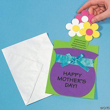 Manualidades con mis hijas: Jarrón con flores para el Día de la madre