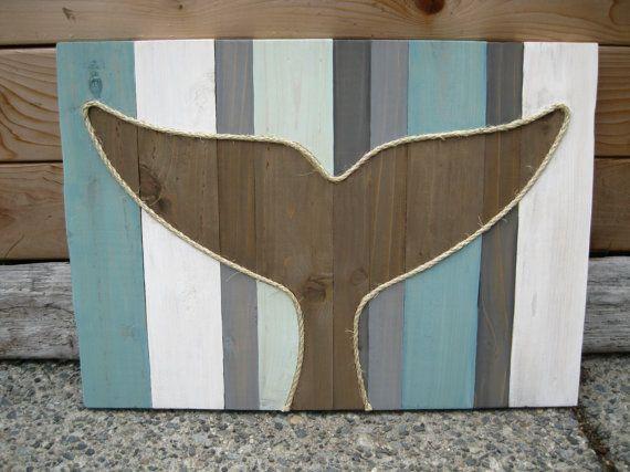 Whale Tail  Rustic Home  Beach Decor by CedarAndSea on Etsy