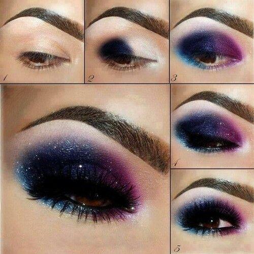 Gorgeous Dark Pink/Black Smokey Eye