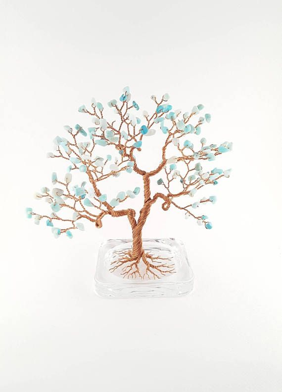 Turquoise Tree Gemstone Tree Sculpture Turquoise Tree Wire
