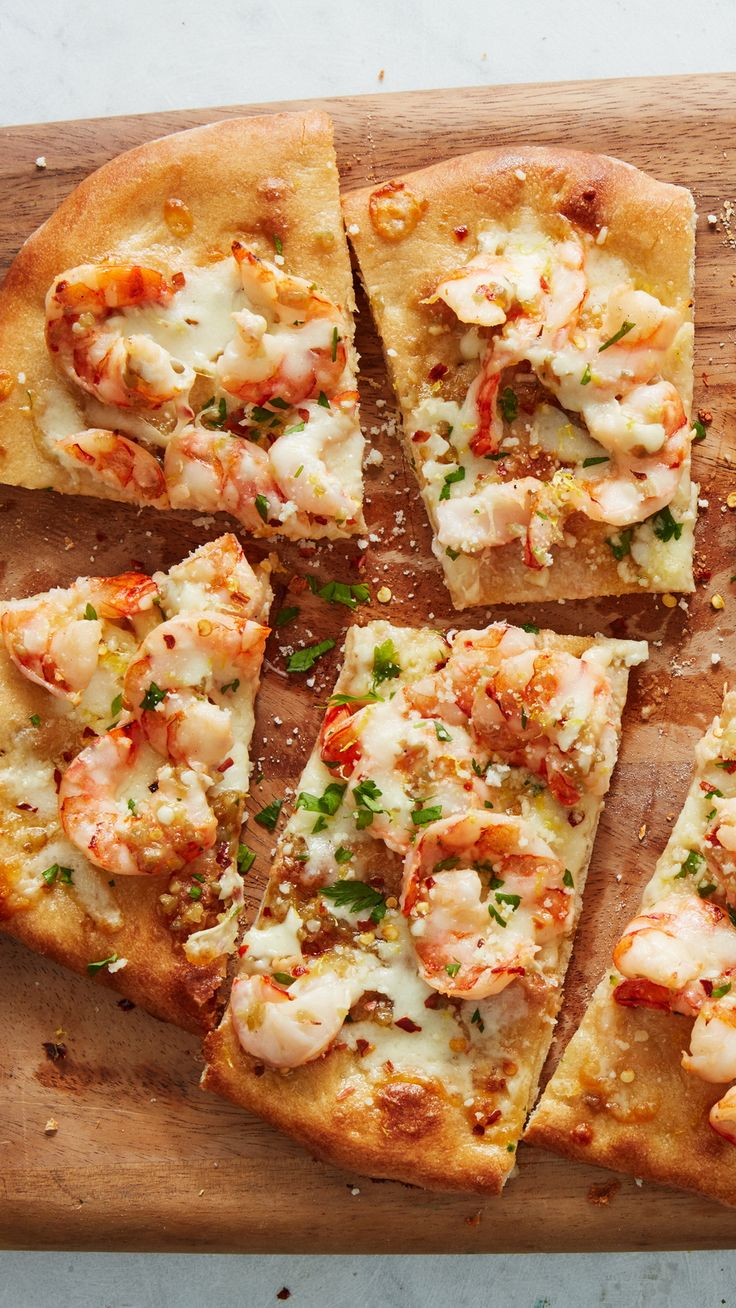 Reinvent the classic pasta dish in pizza form. Top pizza dough with tender shrimp, two cheeses and a lemony, garlic-infused butter sauce. Sprinkle with an ...