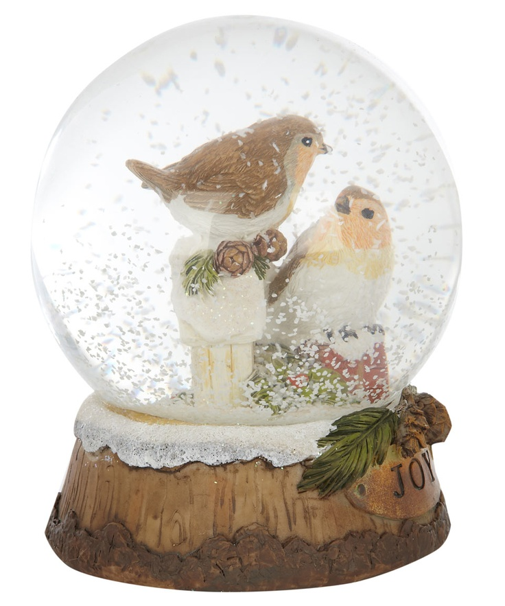 Large Robin Snow Globe, Gisela Graham. Shop more Christmas decorations from the Gisela Graham collection online at Liberty.co.uk
