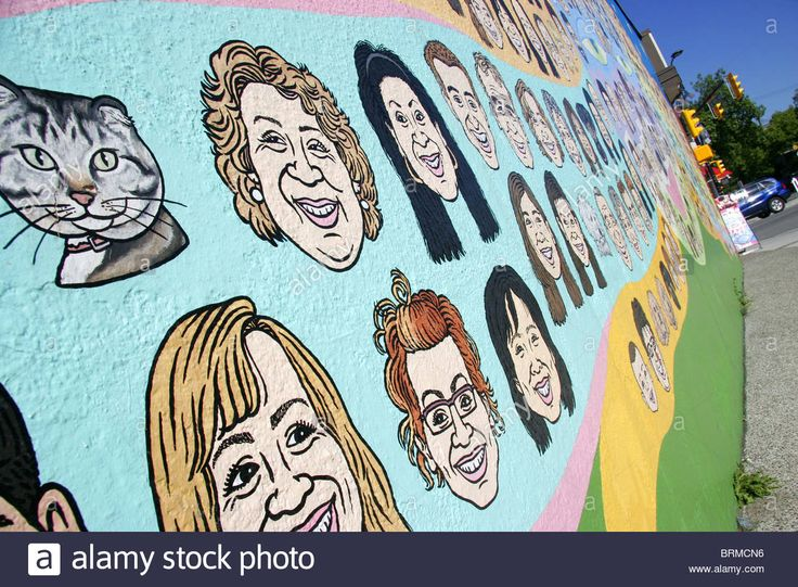 The Face Of Vancouver Mural, Vancouver, British Columbia, Canada Stock Photo, Royalty Free Image: 31796498 - Alamy
