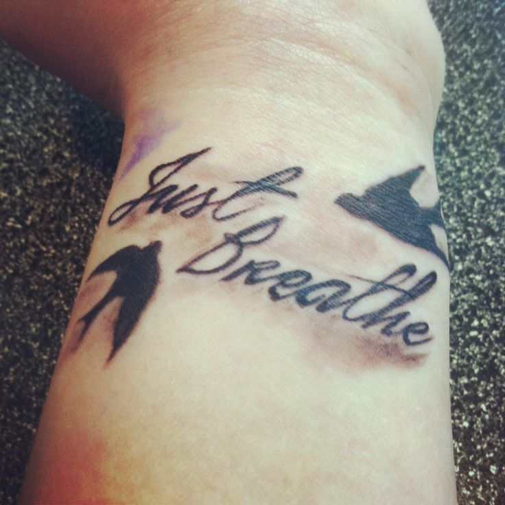 my wrist quot just breathe quot tattoos the