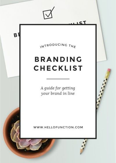 free brand checklist brand guide image