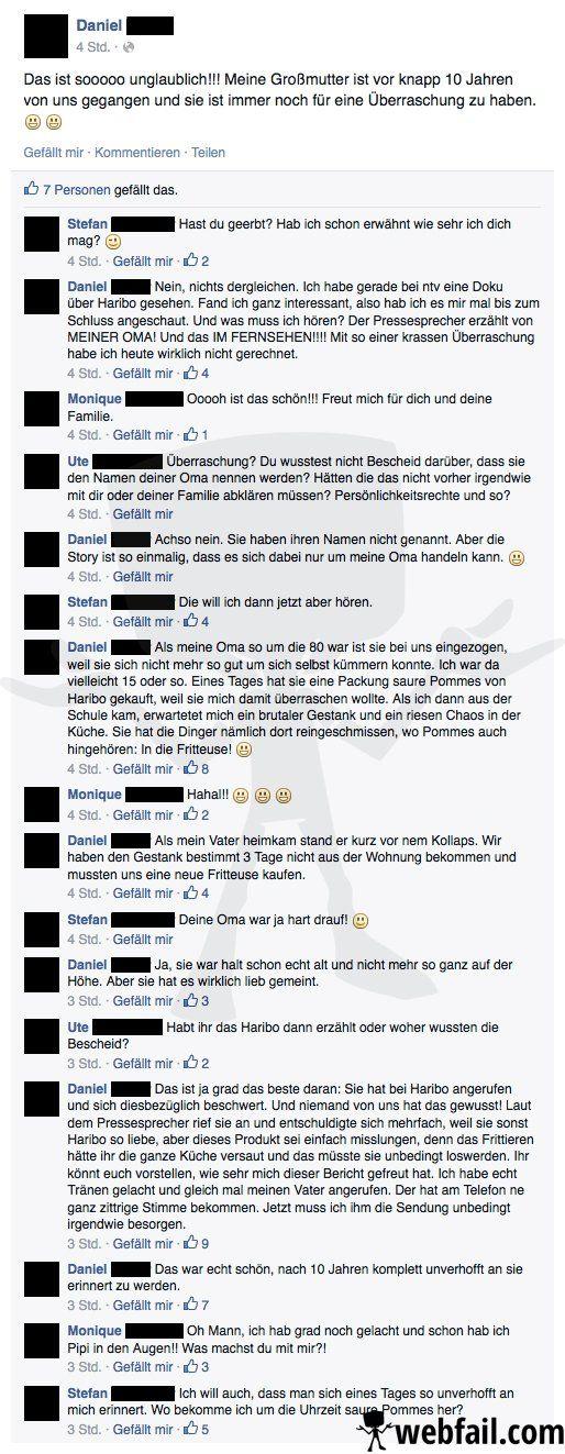 Saure Pommes und eine Überraschung aus dem Jenseits - Facebook Win des Tages 05.03.2015 | Webfail - Fail Bilder und Fail Videos