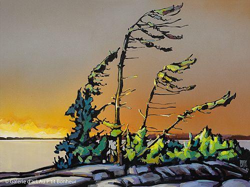 Jerzy Werbel, 'Georgian Bay', 36'' x 48'' | Galerie d'art - Au P'tit Bonheur - Art Gallery