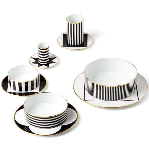 Spring Trend: Stripes: Ca' d'Oro dinnerware by Sieger