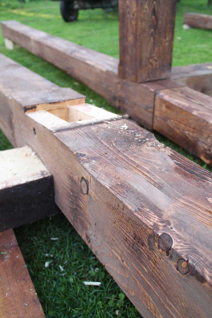 Timber framing, połączenia ciesielskie belek www.drewnoikamien.pl