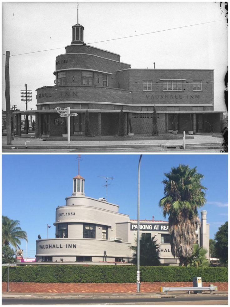 The Vauxhall Inn, Parramatta 1939 > 2016. [State Library NSW > Curt Flood. By Curt Flood]