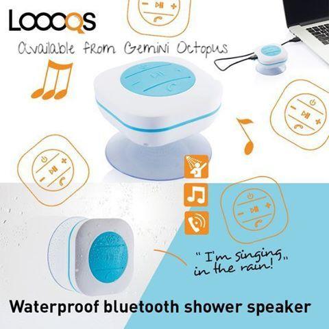 Waterproof bluetooth shower speaker available @geminioctopus @loooqs