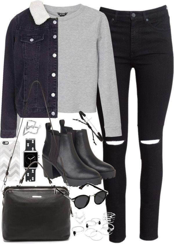 Stilauswahl Fashion Blog | Outfits und Tipps • Outfit mit einer Jeansjacke für den Winter von …
