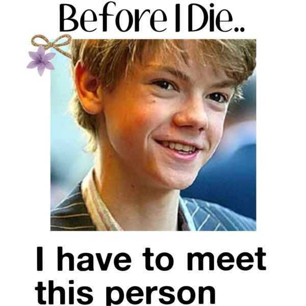Thomas Sangster<3 by meandyouunderapapermoon - Polyvore
