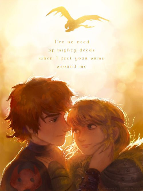 Hiccup and Astrid by vivedessins.tumblr.com