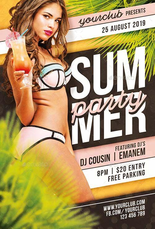 Summer Beach Party Flyer Template - https://ffflyer.com/summer-beach-party-flyer-template-2/ Enjoy downloading the Summer Beach Party Flyer Template created by Mariux   #Beach, #Dance, #Dj, #Electro, #Elegant, #Event, #Nightclub, #Party, #Retro, #Summer, #Techno
