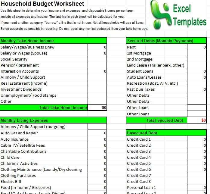 Household Budget Template 6 Budget Spreadsheet Template Household Budget Template Household Budget