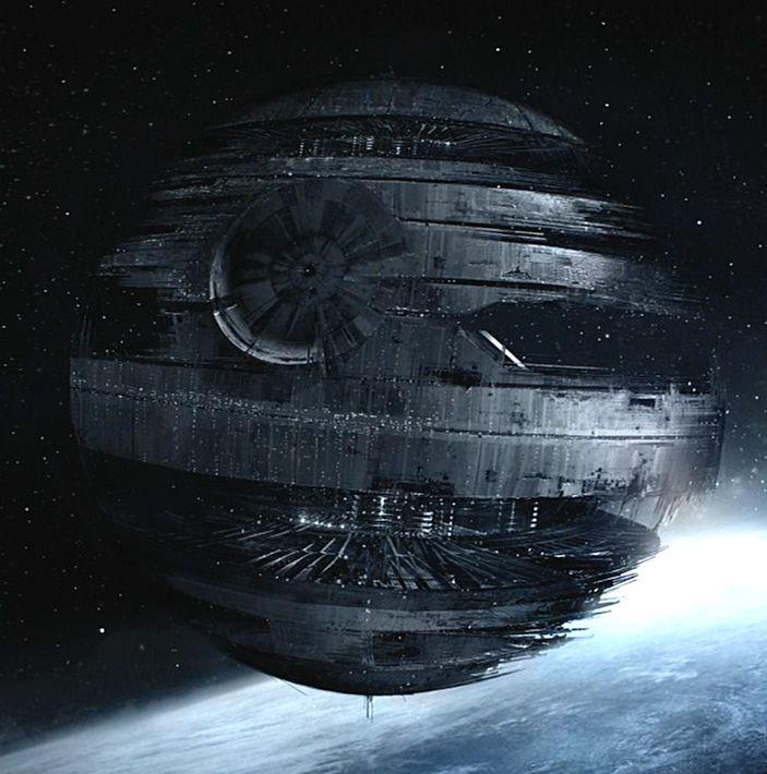 Star Wars The Death Star I under construction.  Source     The Force Unleashed  Original designer / artist   Chin Ko