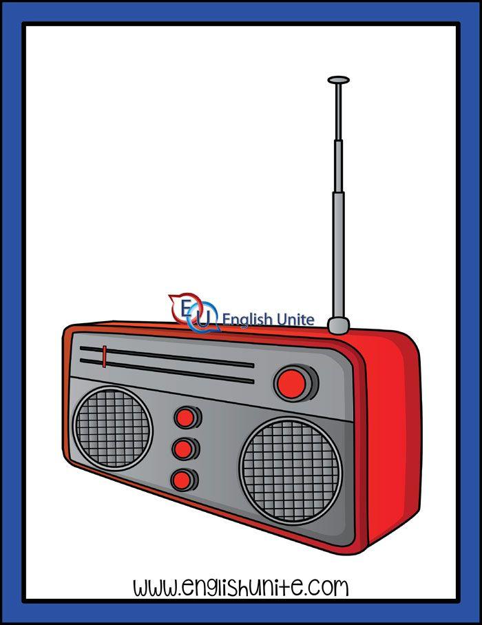Long A Radio English Unite Clip Art Radio White Image