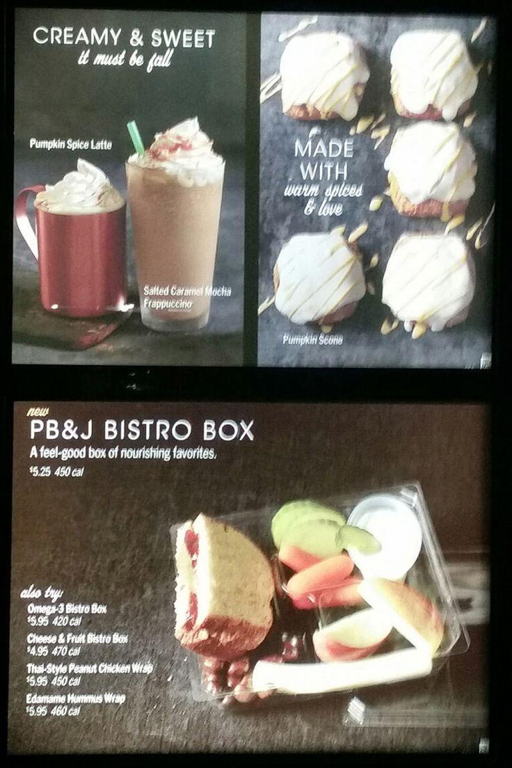 Starbucks Menu – 1