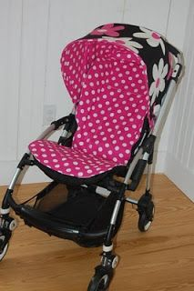 Maine Baby Treats - Custom Bugaboo Stroller Covers: Pink Jane with Pink Jane Dots