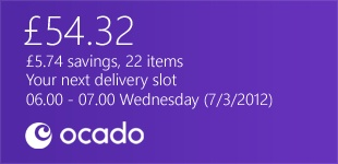 Ocado Windows 8 concept by Levi Freeman, via Behance
