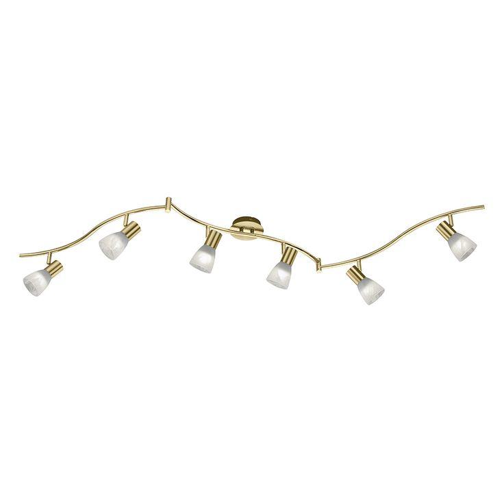 LED-Schiene Messingleuchte für die Decke mit 6 Spots