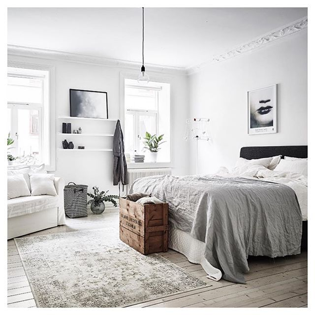 Finnish Bedroom With Whites And Wooden Details