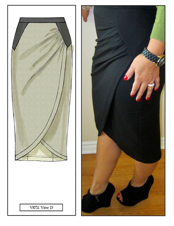 mimi g.: DIY Skirt: Pattern Review V8711 View D